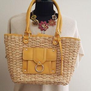 American living straw purse